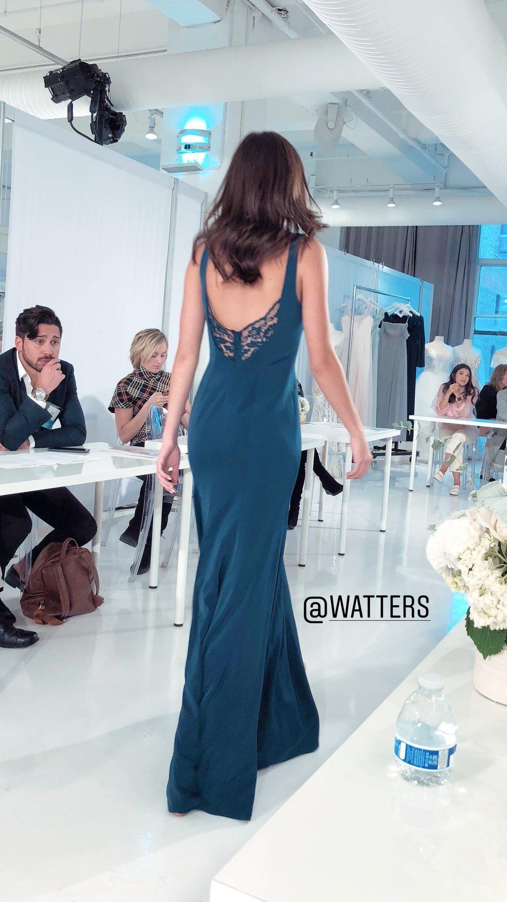Watters debuts more crepe and lace combos at NYBFW