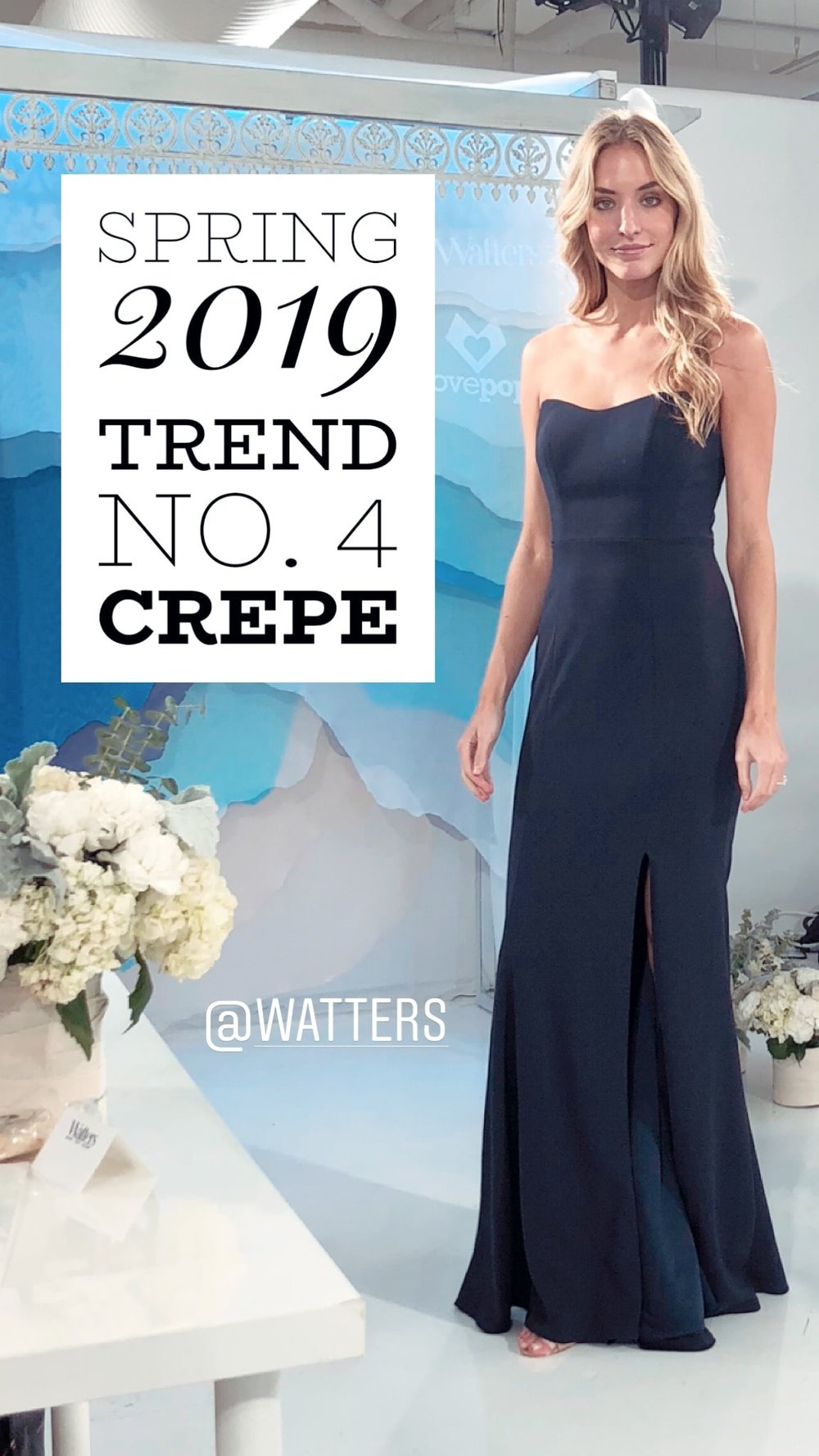 Crepe continues to dominate Bridesmaid style