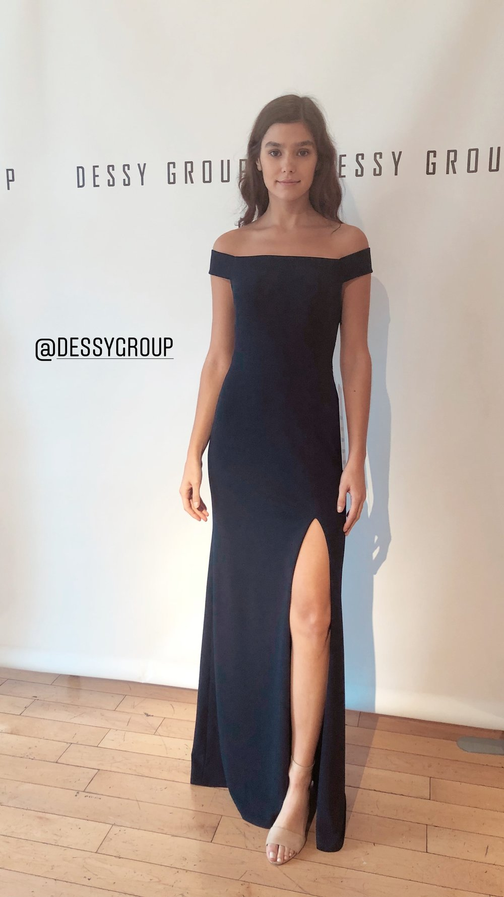 Classic crepe slit from Dessy Group
