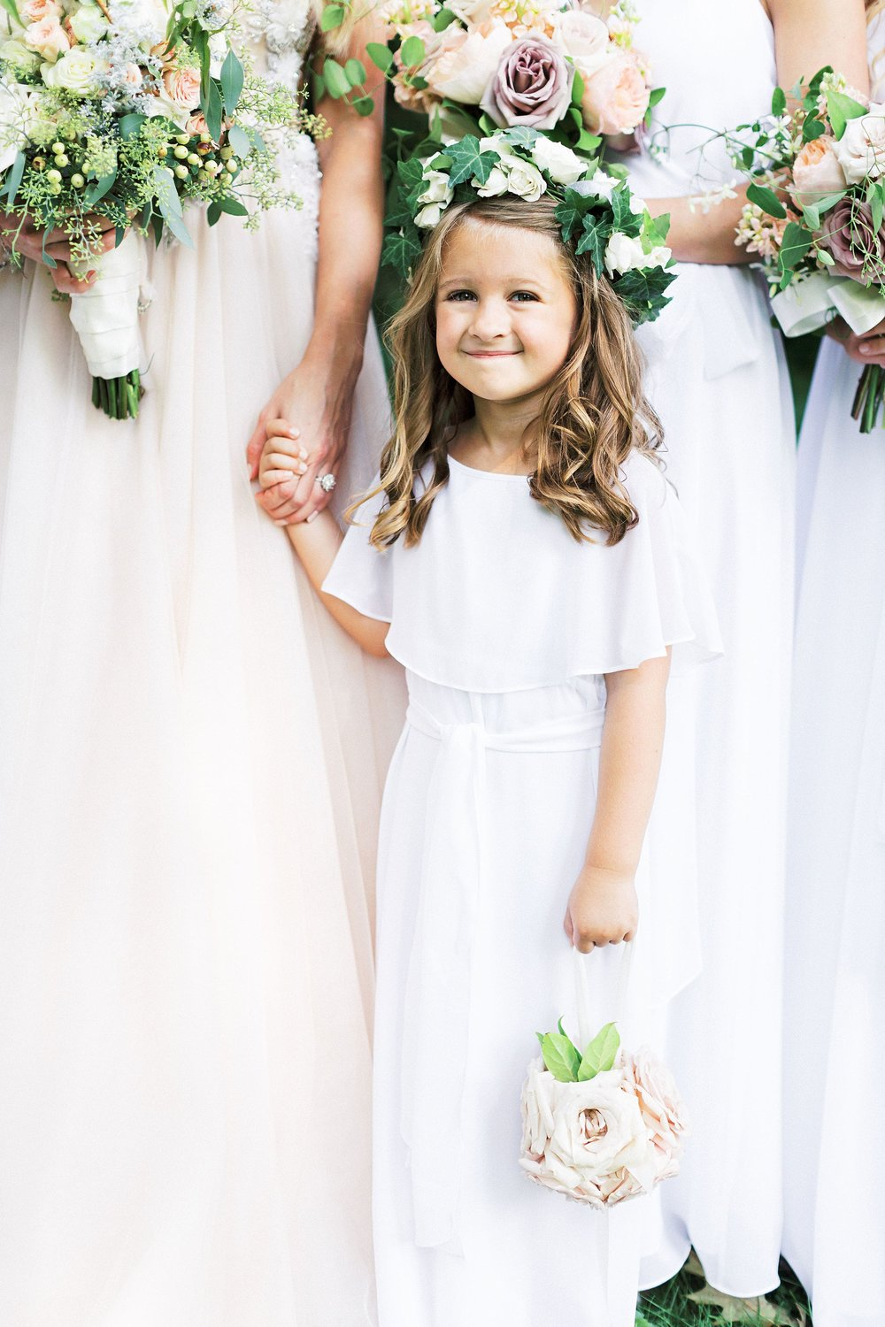 Babes of the Nile by Joanna August flower girl dress Rose in Going to the Chapel ivory chiffon