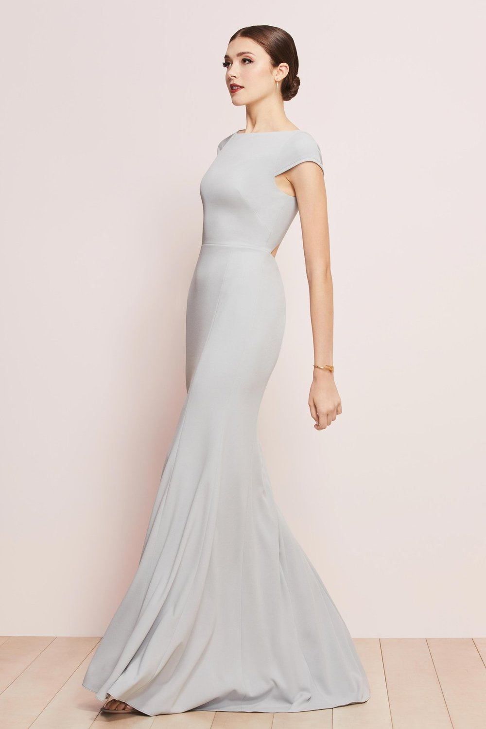Watters Bridesmaids style 6814 Parker Boatneck capsleeves with diamond open back and button detail.JPG