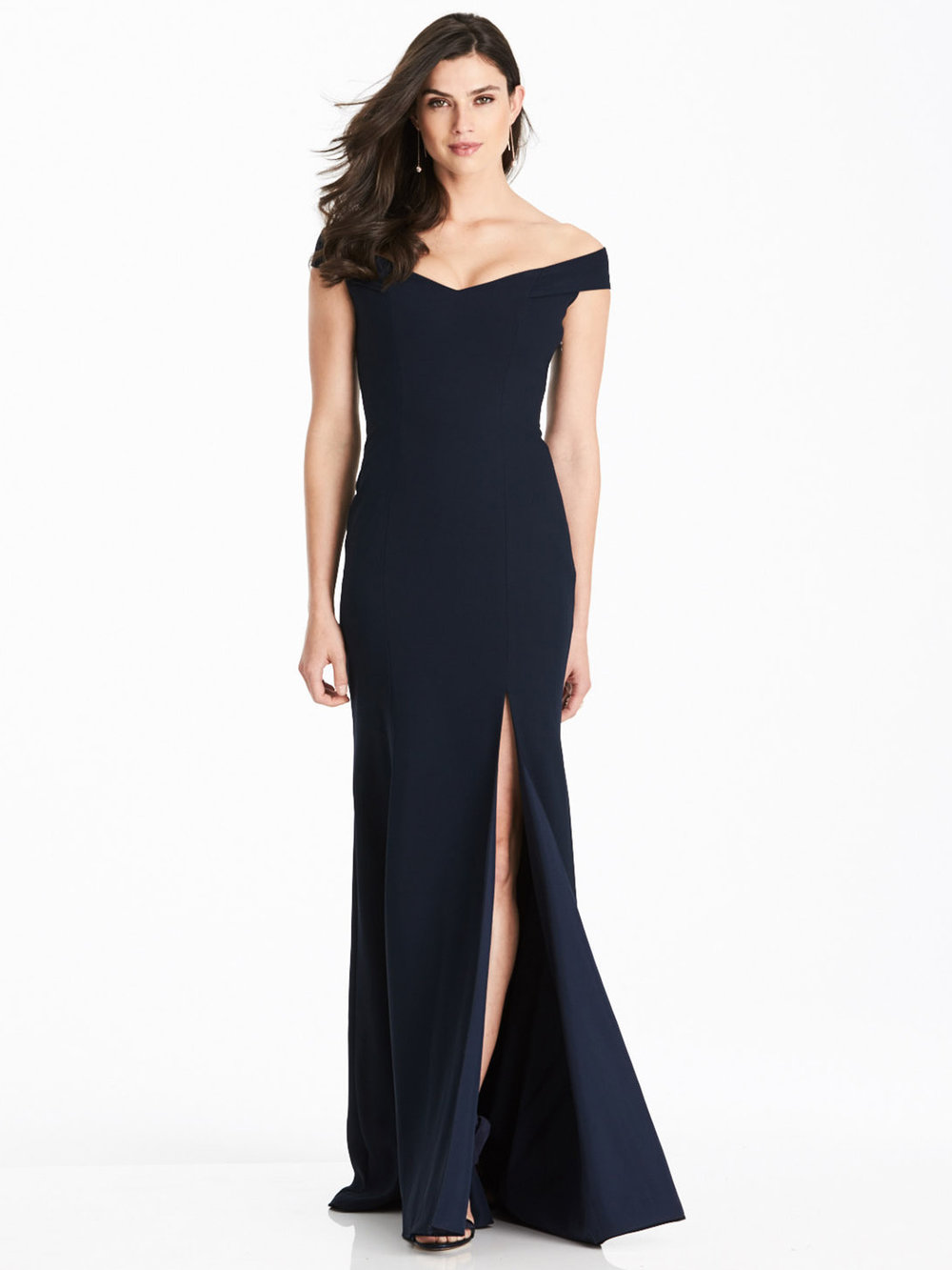 Best Selling Dessy Collection style 3012 in midnight navy crepe