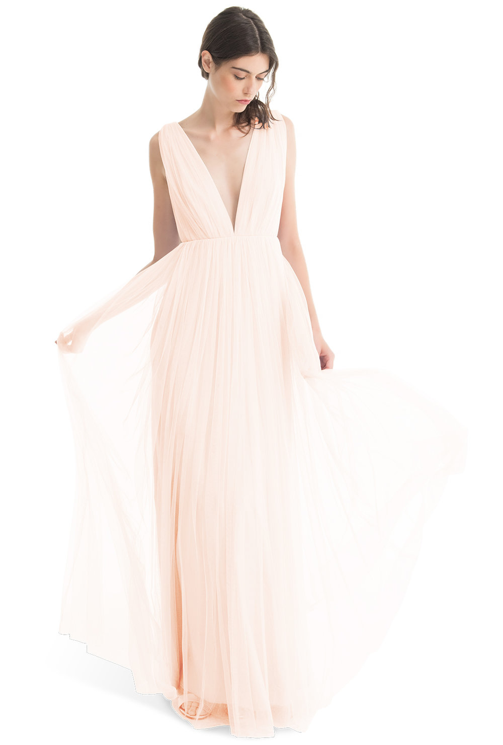 Love me Tender Pink tulle dress Michelle by Joanna August Bridesmaids
