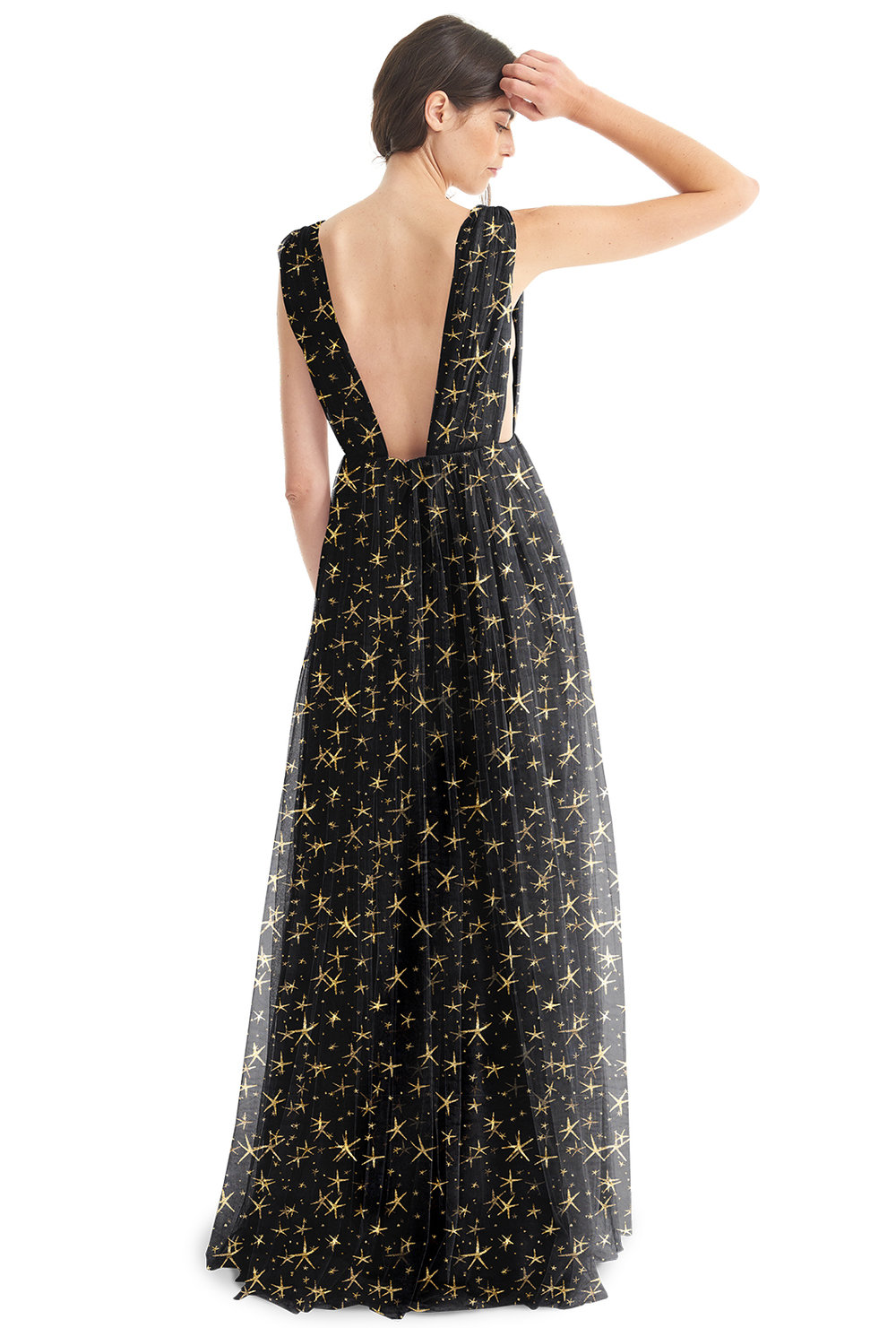 Michelle dress in black star tulle by Joanna August