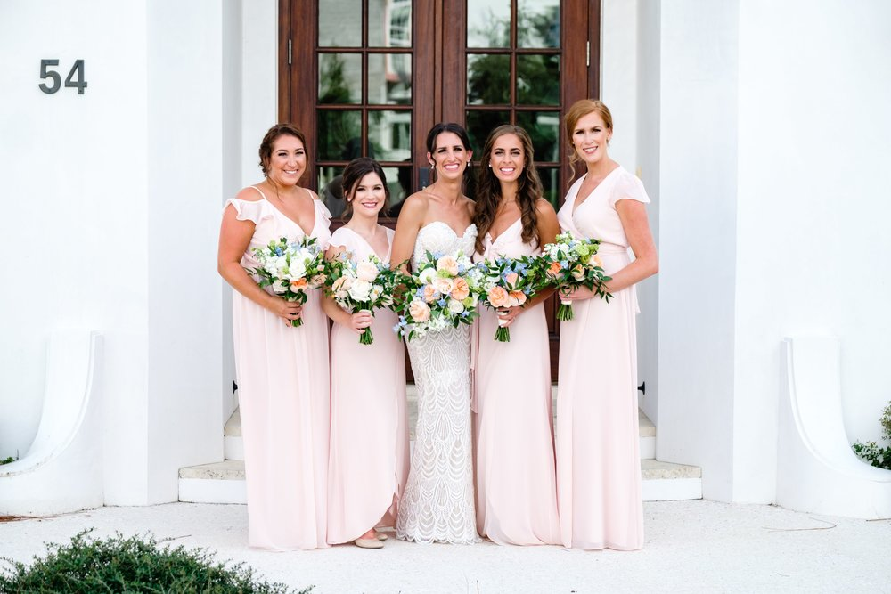 Mix and Match bridesmaids in Joanna August Tiny Dancer