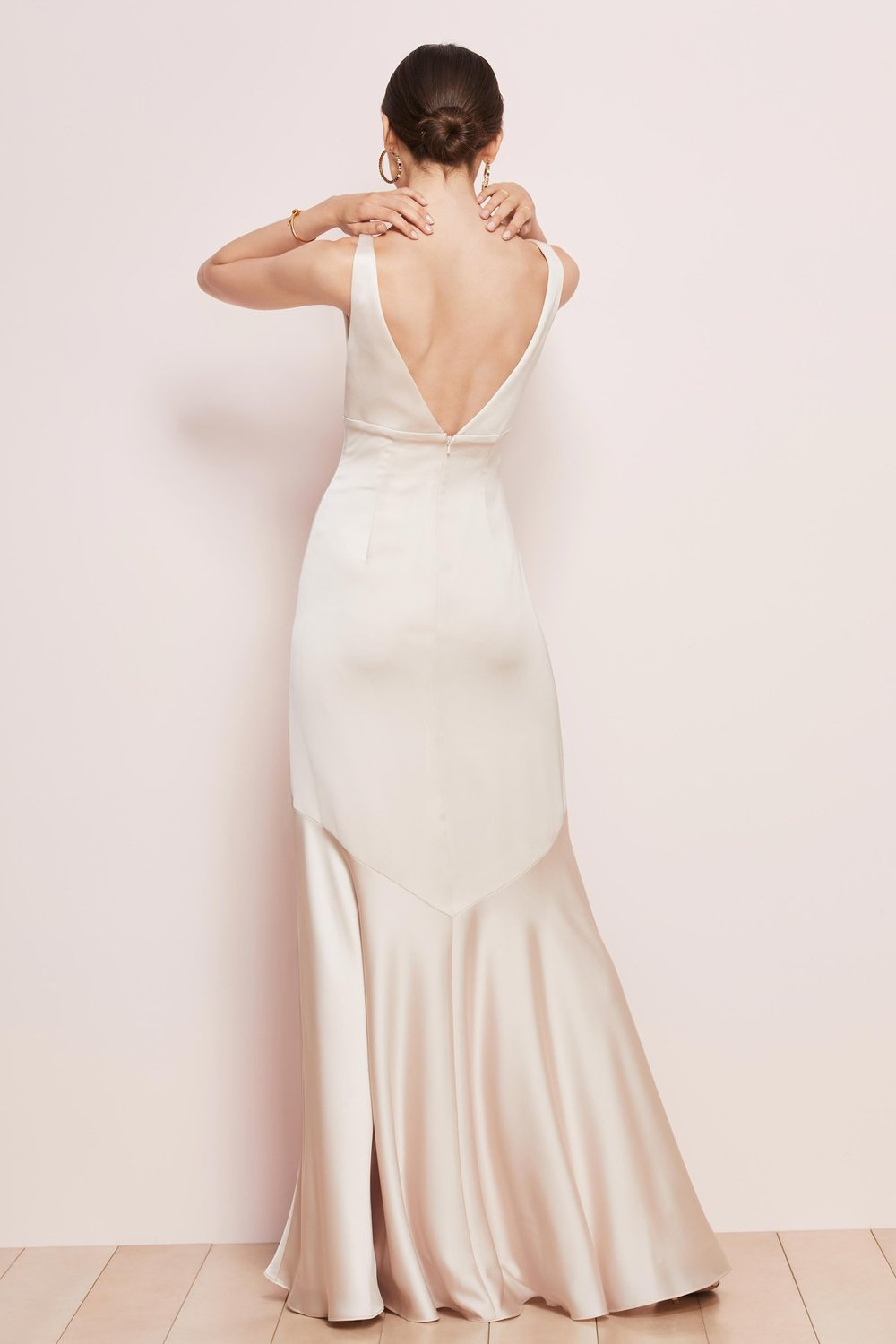 Mason by Watters Bridesmaids with deep v front and back detail