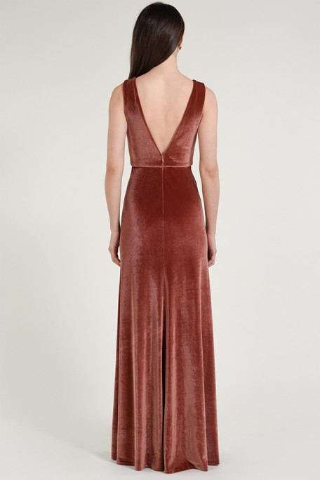 Back of Logan in stretch velvet by Jenny Yoo Bridesmaids