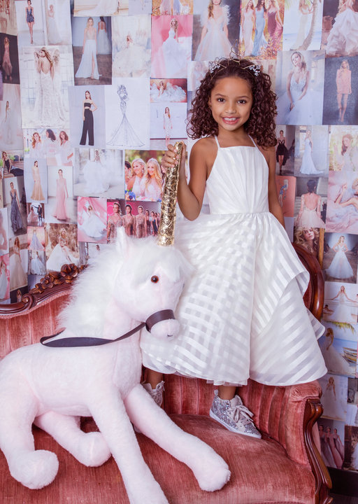 Zazie is a classic bridal style by Hayley Paige turned into a Flower girl dress