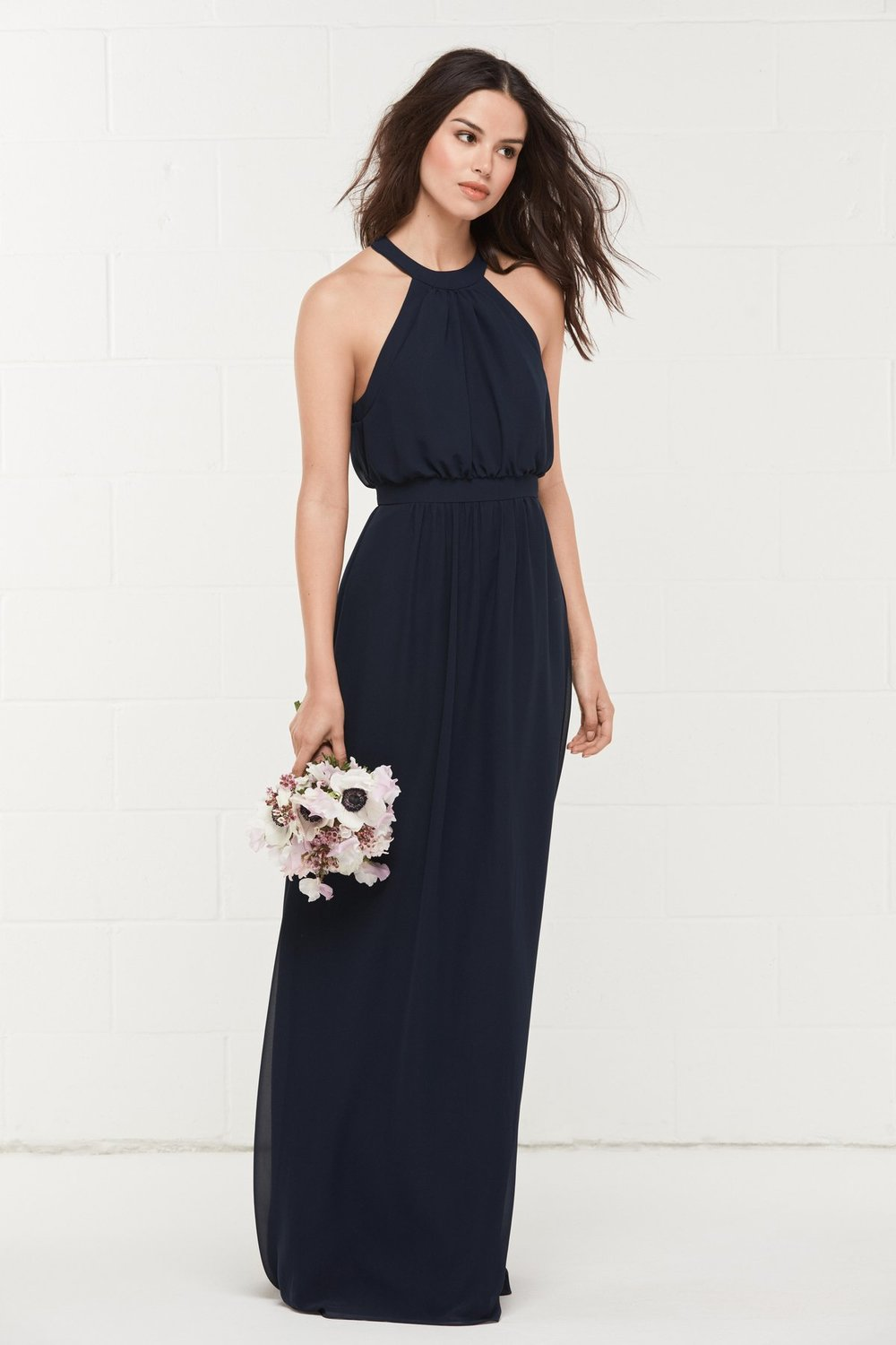 Classic WToo style 403 by Watters Wtoo Bridesmaids in navy