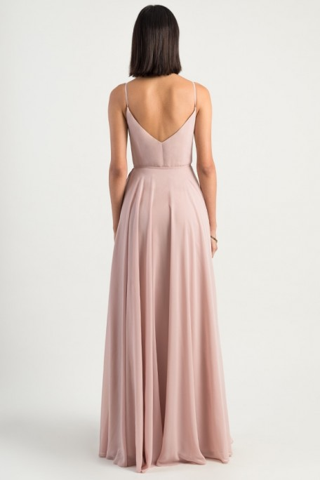 Back of James by Jenny Yoo Bridesmaids wrap style in whipped apricot