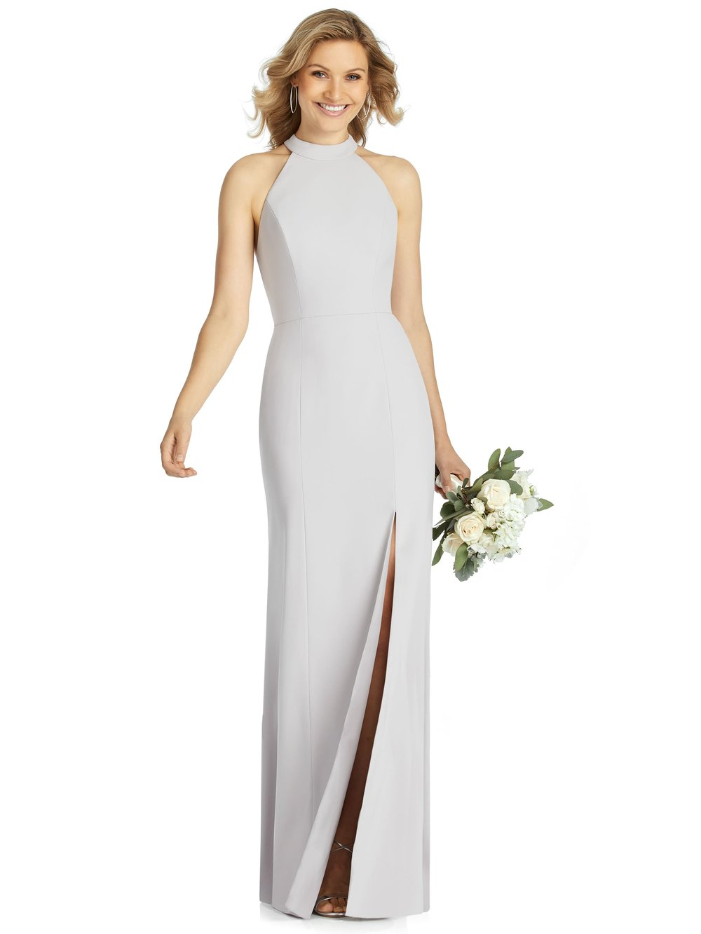 Meghan Markle inspired crepe dress by Dessy After Six style 6808
