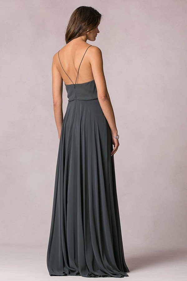 V back strap detail of Jenny Yoo Bridesmaids style Inesse