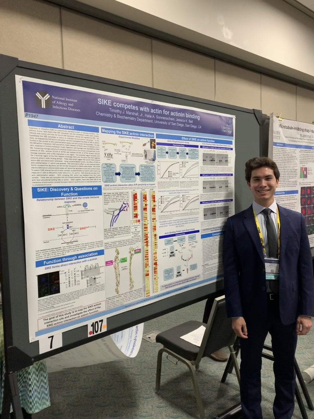 CONGRATULATIONS Timothy Marshall, Honorable Mention in the 2018 American Society for Cell Biology Undergraduate Poster Competition
