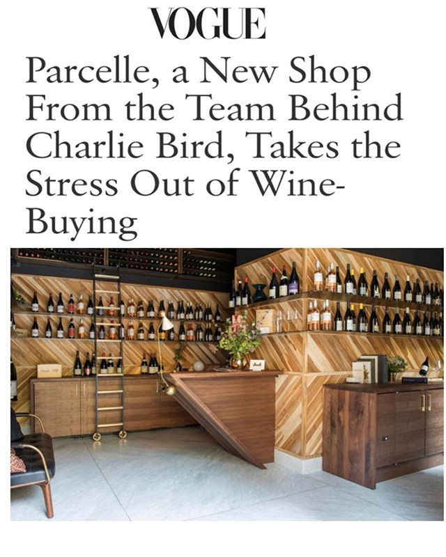 Thank you @vogue! We're open all weekend...
