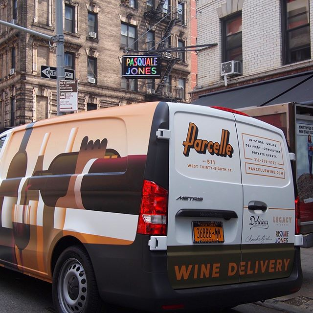 Hottest wheels in town! #winedelivery #nyc