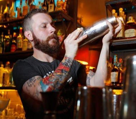ADAM WELCH is shaking up the cocktail scene at the Geyserville Gun Club Bar & Lounge