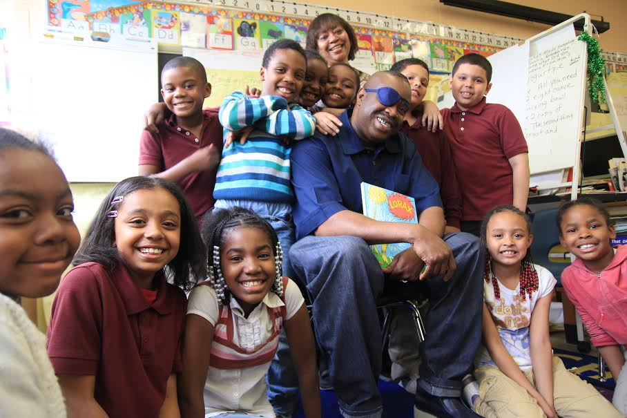Slick Rick at MLK Jr School in Newark