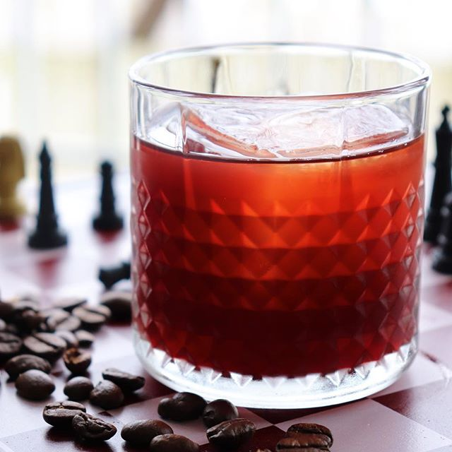 Prisoner's Dilemma (Rye + Red Wine + Coffee Liqueur) 🍷🙌 . Featuring a base of dry red wine, this cocktail complements the wine's rich, fruit-forward flavor profile with hints of spice, coffee, and cherry - thanks to generous additions of rye whiskey, coffee liqueur, Cynar, and spiced cherry bitters - resulting in a drink that is balanced, complex, and endlessly drinkable! Whether you're craving a slow-sipping cocktail to keep you warm during these cold winter nights or just looking to trade out your usual glass of wine for something a bit more interesting this Valentine's Day, we know you will love this cocktail as much as we do! 😍 . 1 1/2 oz rye whiskey (@heavenhilldistillery Rittenhouse) 1 oz dry red wine (we used Shiraz!) 1/2 oz coffee liqueur (@cardinalspirits Songbird Coffee Liqueur) 1/2 oz Cynar (@cynararg) 3 dashes spiced cherry bitters (@woodfordreserve) . Link to full recipe in our bio! 👆 - - - - - - - - - - - - - - - - - - - - - - - - - - - - - - - - -  Want to see more delicious vegan comfort food and culinary-inspired cocktails? ✌️Follow us for plenty of quick and easy recipes we know you'll love! - - - - - - - - - - - - - - - - - - - - - - - - - - - - - - - - -  #wine #winecocktails #redwine #ryewhiskey #coffeecocktail #coffee #redwine #valentines #valentinesday2019 #valentinesdaygift #cocktail #cocktails #whiskey #cynar #drinkstagram #craftcocktails #drinks #imbibe #whatvegansdrink #vegan #vegandrinks #veganrecipes #vegancocktails #veganshare #homebartender #vegandrinkshare #instacocktail #cocktailporn #imbibegram #CraftedMixology