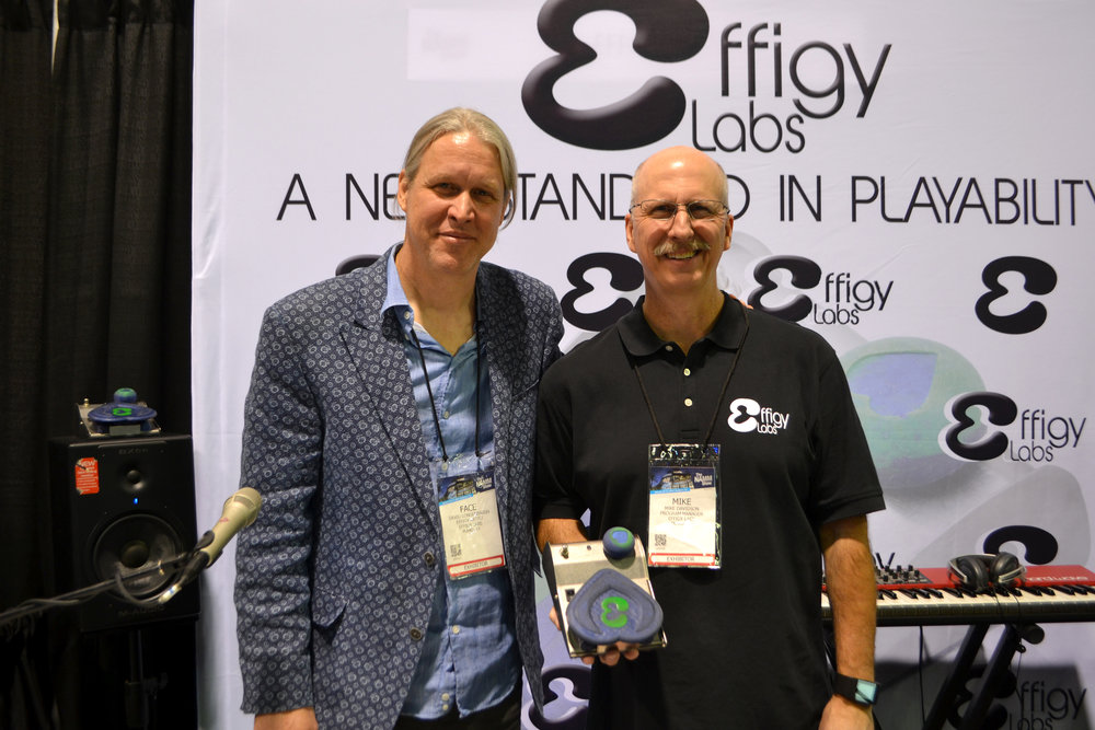 Face and Mike at the NAMM Booth - photo: Musictrades.com