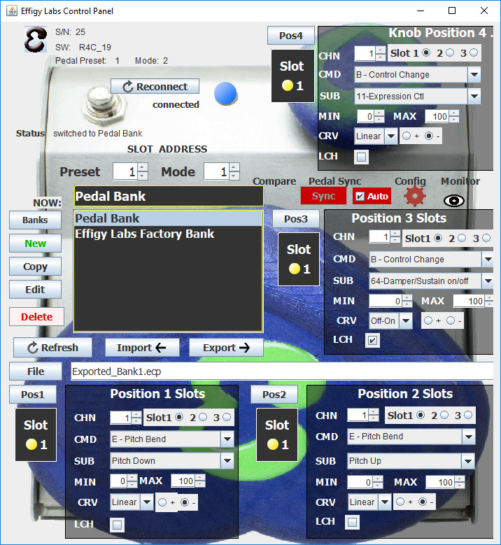 """Control Panel - Control Panel for Mac and Windows (zip) - The control panel is packaged as a compressed (zip) file. It will work on both Mac and Windows computers.Latest Control Panel build: 07 March 2019Decompress the downloaded file before running the jar file inside. Click on the """"EffigyControlPanel.jar"""" file to run the app.Java Runtime Environment (JRE) - The control panel is a java application. Download the JRE if needed here.Effigy Factory Bank - download the latest Factory Bank (5 presets). Use the control panel to import it and load it into the pedal. Use your browser's """"save as…"""" function."""