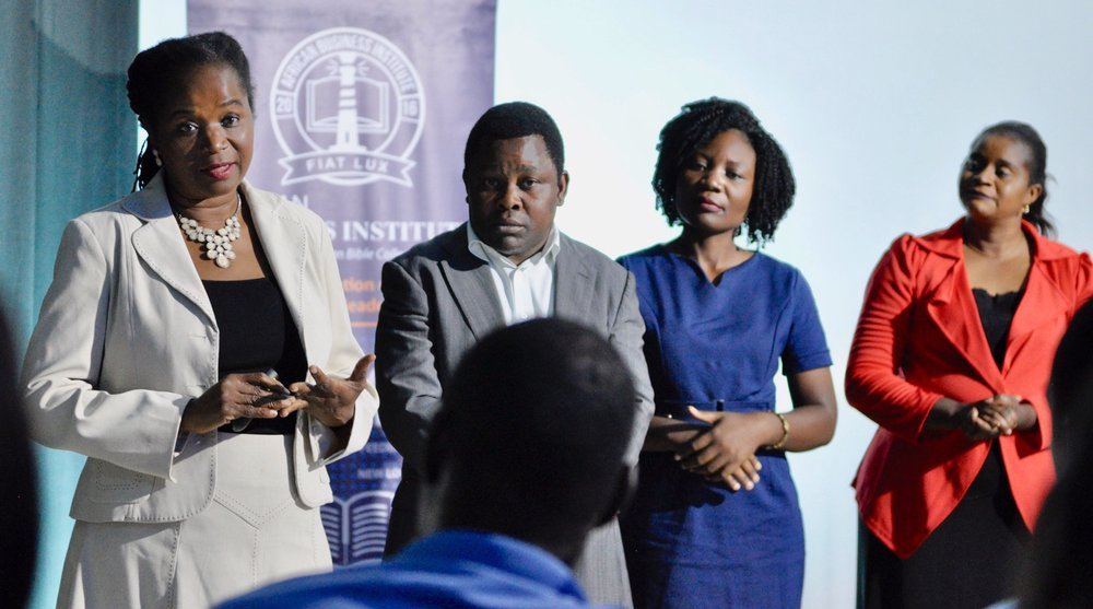Patricia and her Bioternity Team pitching to investors during the 2019 ABI Investment Fair