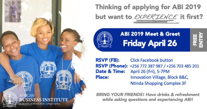Meet & Greet 2 - April 26th (Fri), 2019, 5-7pm @ Innovation Village, Block B&C, Ntinda Shopping Complex 3F, Ntinda, Kampala, Uganda