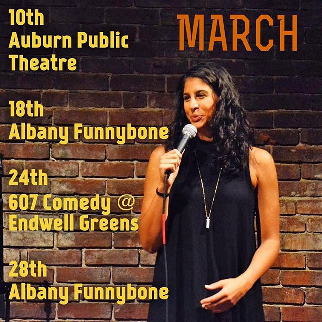 Where I'll be traveling for March w some great comics! #607comedy on the 24th . . . . . . #comedy #standup #comedian #comedianne #cusenation #female #slu #stlawu #bitchesbrew #607comedy #lol #funny #femalecomedian  #stlawrenceu #tallgirls #italian #basketball #athlete  #cakeboss #family #jerseygirls #cuse #comics #binghamton #bing #endwell #ny #upstate