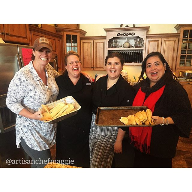 'Tis the season for tamales! Reservations are open now for our annual Star Valley tamale classes, where you get to learn from Chef Maggie and take home a dozen tamales for you and yours. How jolly! Email or check our Facebook for more information. In frame: Some sweet students from our last class, Chef Maggie, and her daughter Kacie.  #food #chef #chefsofinstagram #catering #privatechef #partyplanning  #weddingwyoming #wyomingwedding #lwyomingtourism #wyomingevents #tamales #tamaleclass #delicious #handmade #cookingclass #foodie #wyoming #jacksonhole #starvalley #cheflife #wyomingclass #wyomingcooking #wyomingfood #yum #tasty #dinner #cooking #foods