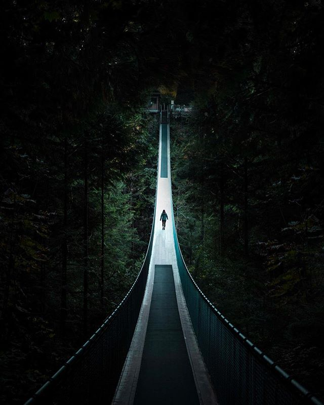 /Suspended/ The Capilano Suspension Bridge Park is one of the coolest spots to check out if you can catch it at a time without tourists. Always looking for new travel suggestions! Tell me down below👇 . . . . . #heatercentral #forbiddenart #gramslayers #voyaged #createexplore #explorebc #explorecanada #visitcanada #vancouver #explorevancouver #lensbible #enterimagination #launchdsigns #shotzdelight #illgrammers #agameoftones #fatalframes #thecreatorclass #artcollectors #suspensionbridge #bridges