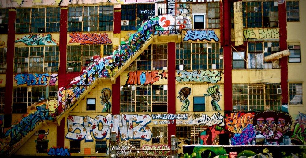 5 Pointz, formerly in Long Island City, Queens (NY)  Photo by Sheila Kim; instagram: sheilamoky; sheilakim.com