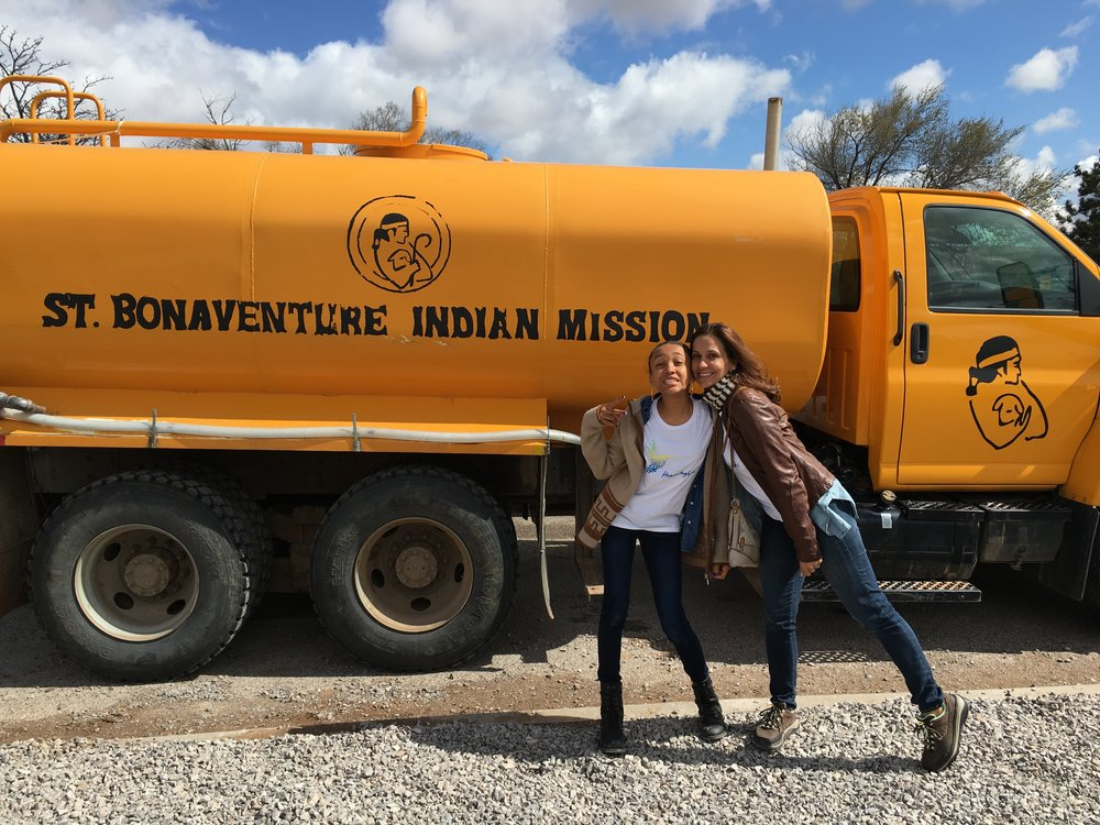 Noah Grace & me with the water delivery truck on the Navajo Rez.