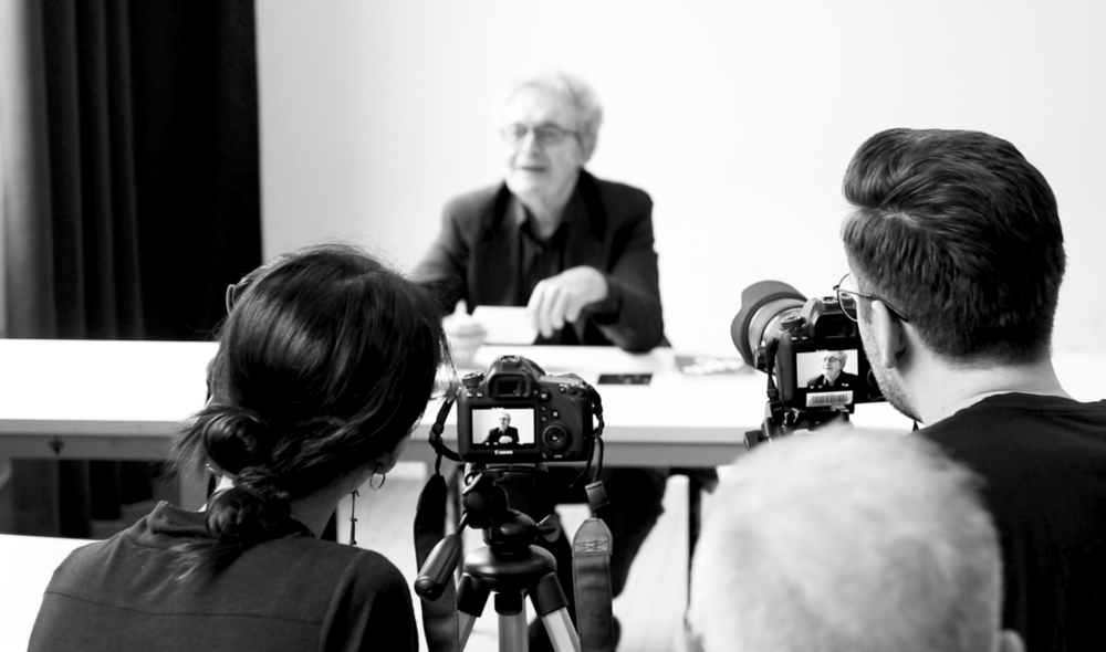 Behind the scenes image of the Armando Milani interview captured by Summer-Lee Schoenfeld