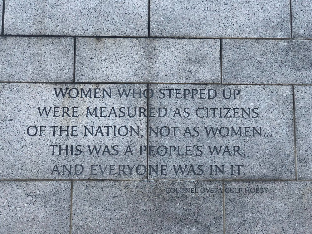From the WWII Memorial in Washington D.C.