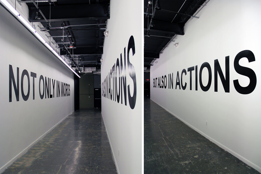 Not only in words but also in actions. 2011
