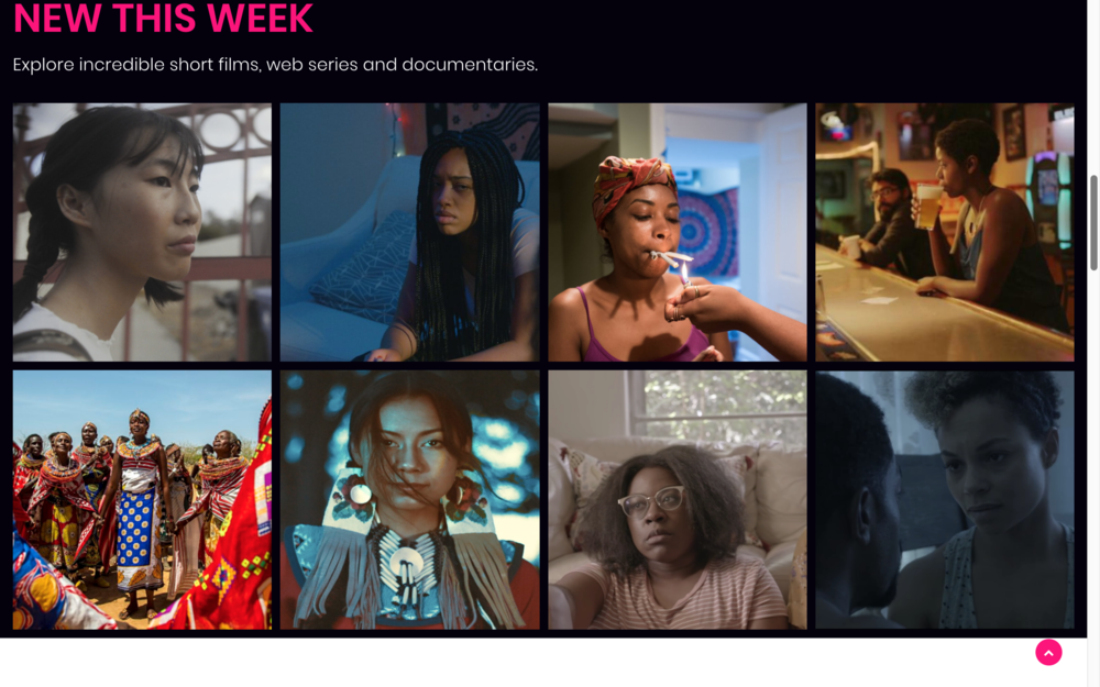 The Library - I built a digital library featuring hundreds of free-to-view films created by women of color.