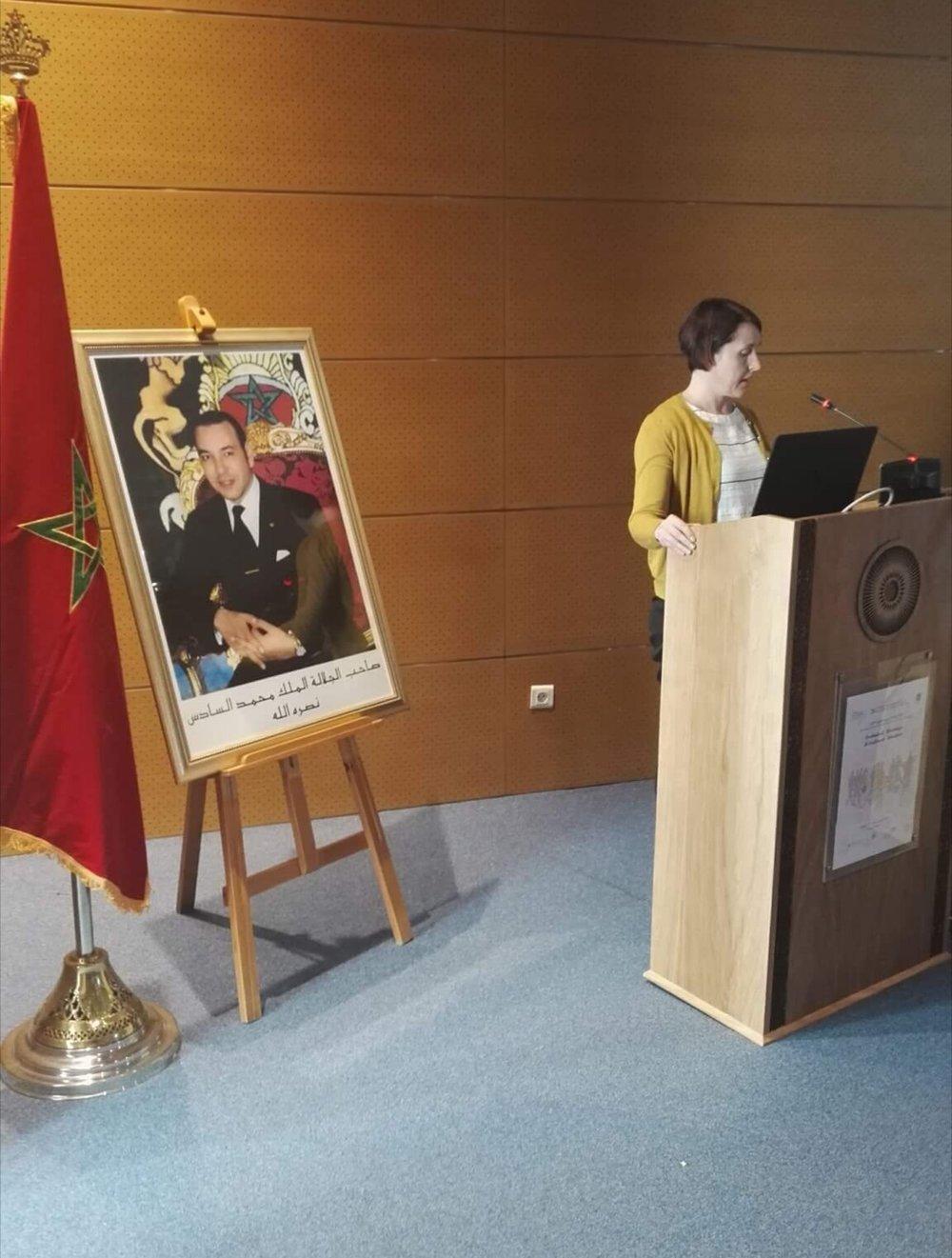 CNRST –tutkimuskeskus tarjosi konferenssille juhlalliset puitteet.