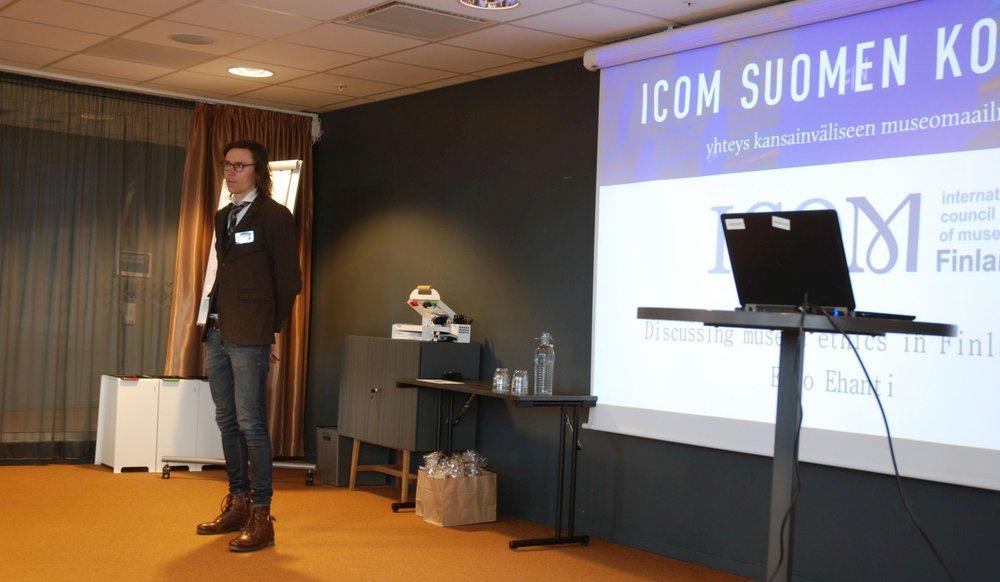 ICOM Suomen puheenjohtaja Eero Ehanti Kristiansandissa. Kuva: Lassi Patokorpi