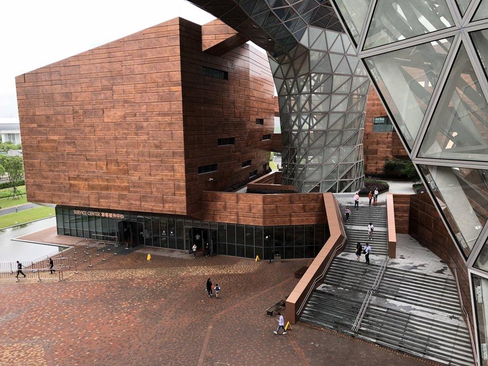 Vuonna 2010 avattu World Expo Museum on kiinalaisen ECADI-toimiston suunnittelema