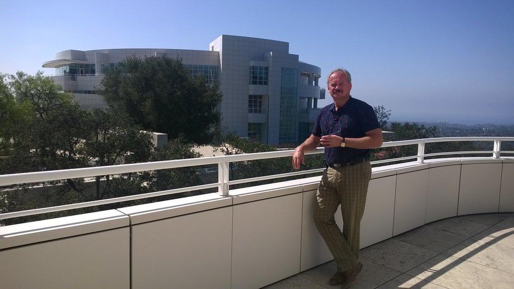 Tannar Ruuben ICOM-CC johtokunnan kokouksessa 2016 Getty Center:ssa Los Angelesissa.
