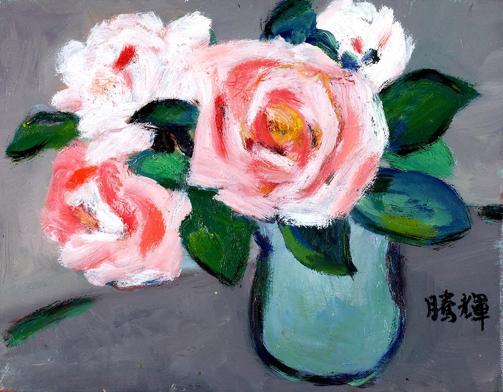 1畫作名稱:粉紅玫瑰(尺寸41.5x51cm).jpg