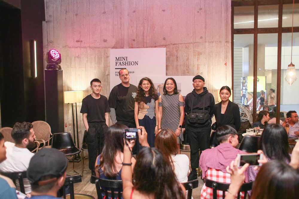 (L-R) Local Fashion Designer - Kit Woo, Liam Hodges; Mijia Zhangin, Wei Lin, Founder of Super Sunday - Mr Kioue, and Dianna Yong - Founder of Shop Sayang