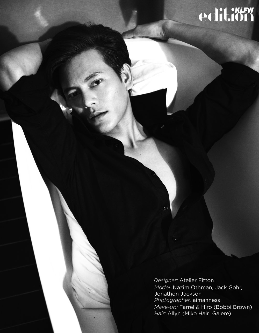 Designer:  Atelier Fitton  Model:  Nazim Othman  ,  Jack Gohr  ,  Jonathon Jackson  Photographer:  Aimanness   Make-up: Farrel & Hiro (  Bobbi Brown ) Hair: Allyn (  Miko Hair Galere  )