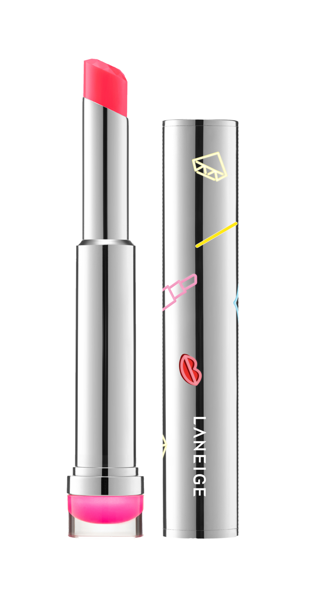 LANEIGE_Holiday Stained Glass Stick_Neon Pk_Open_Front_180912_DF.png