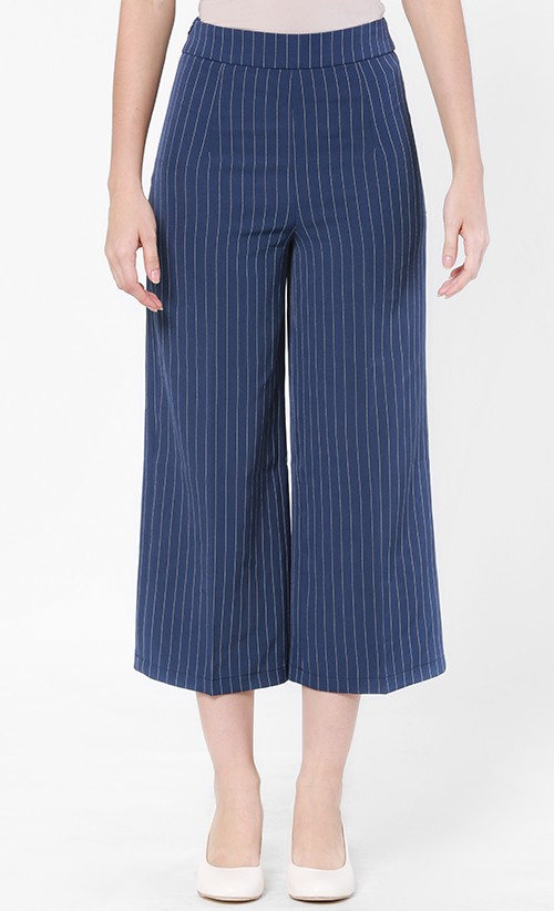 Striped Culotte Blue, FashionValet
