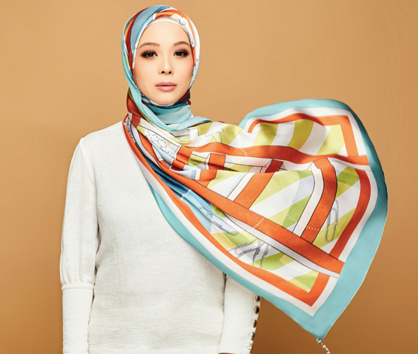 The dUCk Group founder, Vivy Yusof wears the Go-Getter ProdUCktive Scarf.jpg