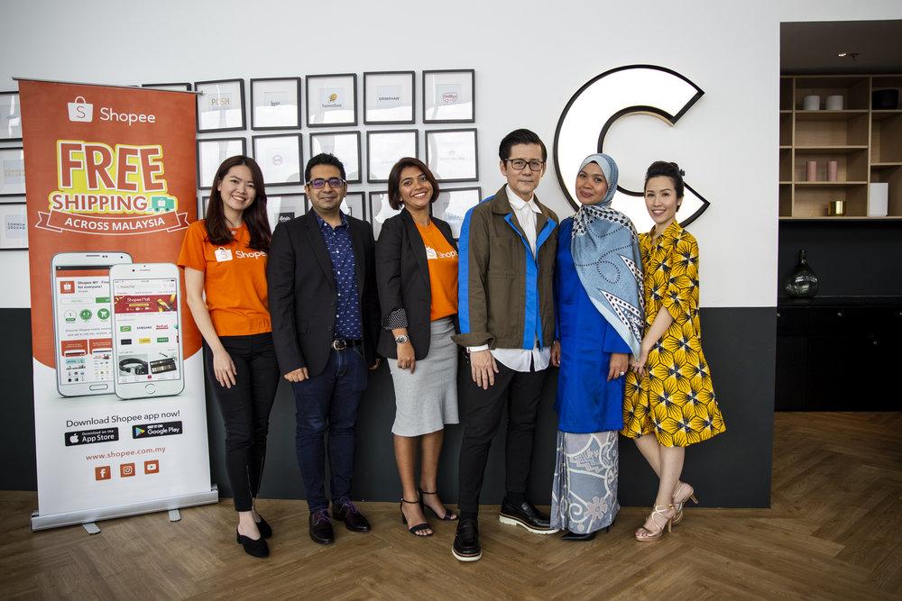(L-R):  MS Cheah Lee Sun (Shopee), Mr Arjun Sarwal (Facebook), Ms Sashya Pasupathy (Shopee), Mr Andrew Tan (KLFW), Ms Ungku Norliza Syazwan Ungku Halmie (Boost), Ms Ms. Ru Sow (Common Ground)