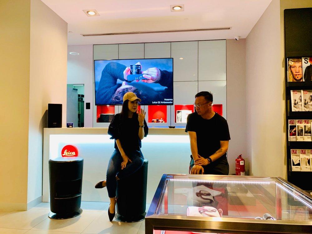 Leica Q2 Brand Ambassadors:  (R)   AikBeng Chia   and (L)   Hosanna