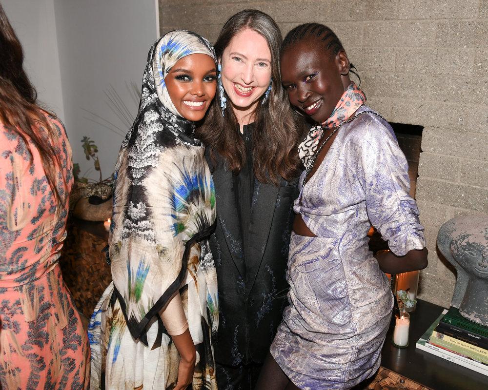 Halima Aden   ,    Ann Sofie Johansson   ,    Alek Wek