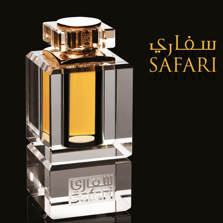"""Perfume Safari - """"… the true creation of the East, which reveals the tenderness and sophistication of women. Citrus notes of bergamot give a unique noble aroma, which will be a prelude to the awakening of sensuality, created by the essence of ylang-ylang. The deeper and more melodious notes of agarwood and cedar, slowly opening up, envelop and evoke a feeling of pleasure, while a thin and fresh vanilla trail remains with you throughout the day, adjusting to your mood. Vanilla seeds are grown and dried for 7 months under the scorching rays of the Mecca sun, only so that they absorb all his energy and give it to you. These enveloping oil spirits, made from rare natural ingredients, will undoubtedly become your favorite, so the manufacturer gives you the opportunity not to part with them ever.""""Yacine Mezzour at Fragrantica.com"""