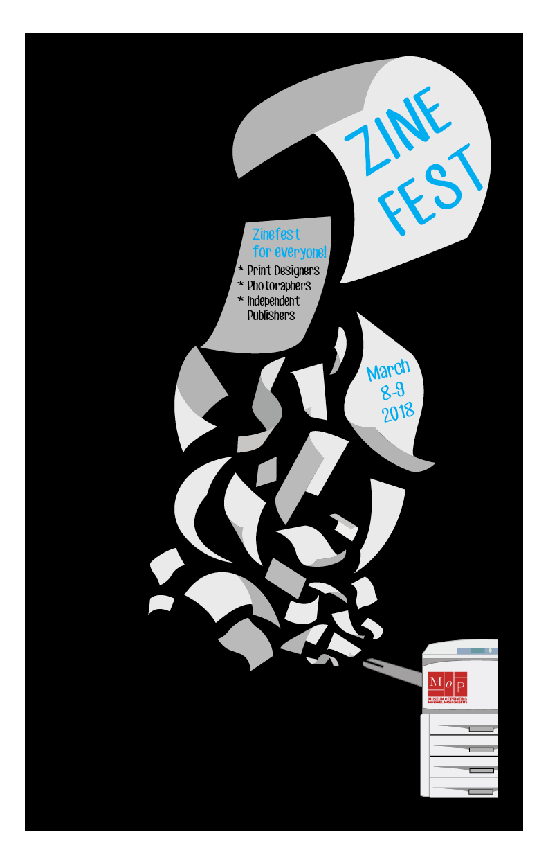 Tabloid size poster for the event